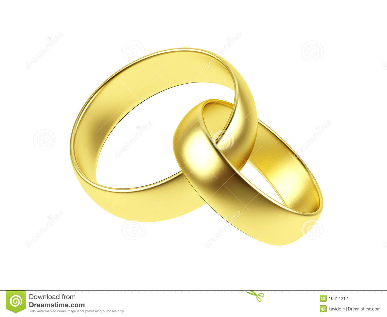 Two Wedding Ring On A White Background Stock Photography Image