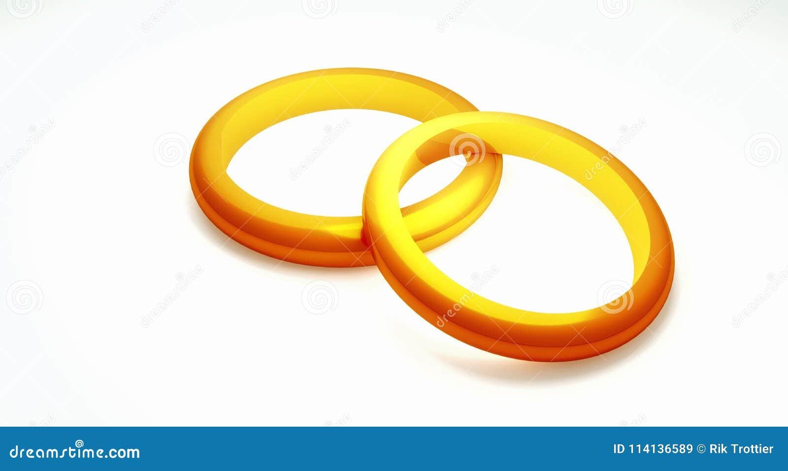Two Wedding Rings Stock Illustration Illustration Of Symbolic