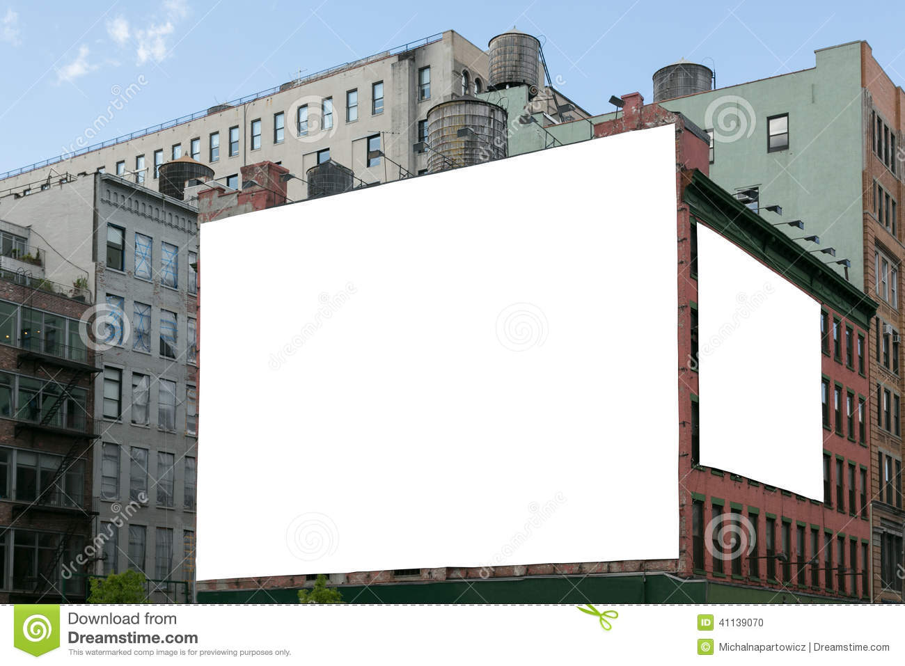 two white blank billboard on the brick wall building stock photo image 41139070. Black Bedroom Furniture Sets. Home Design Ideas