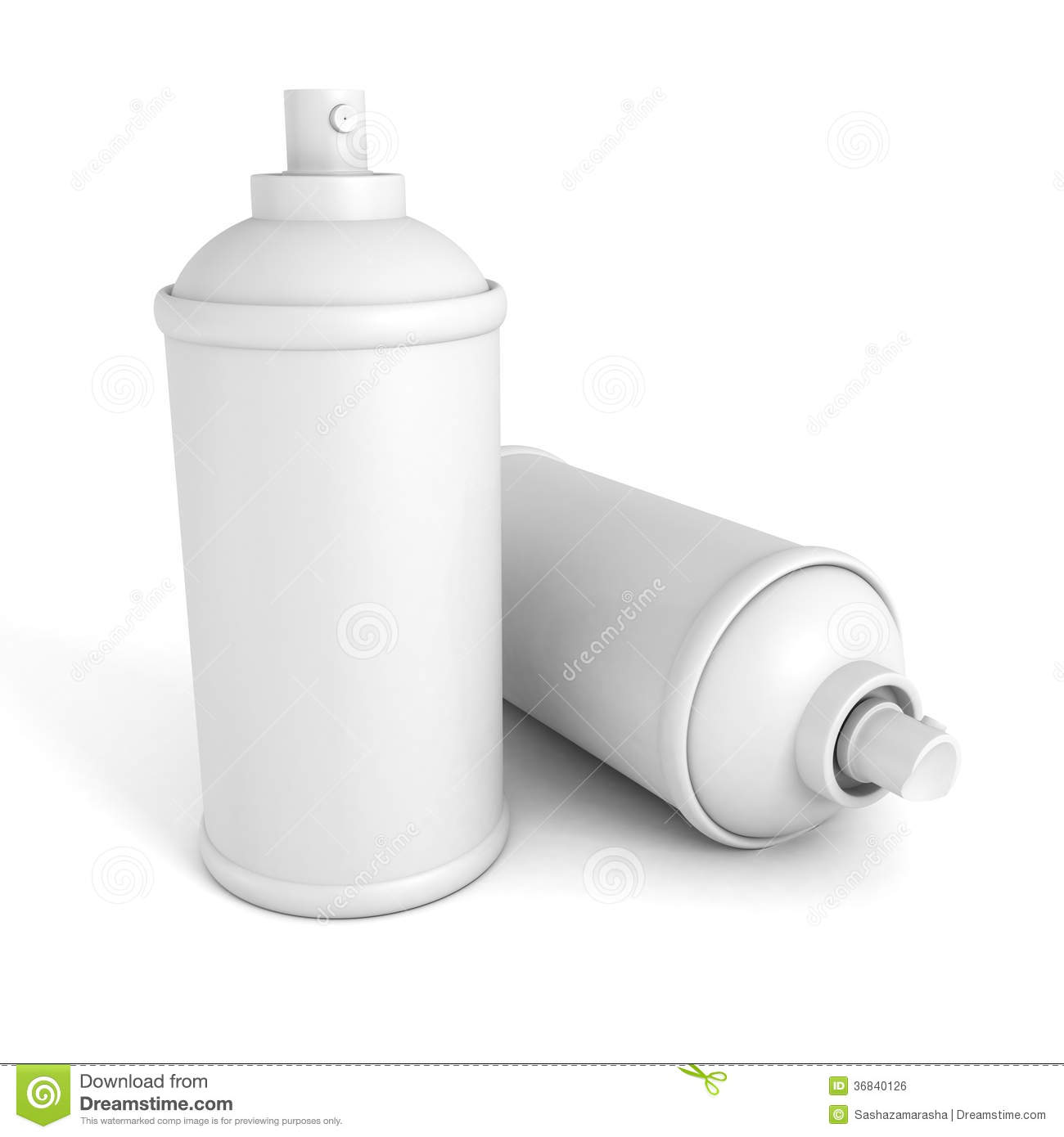 Two white blank spray paint graffity cans stock photo image 36840126 Paint with spray can