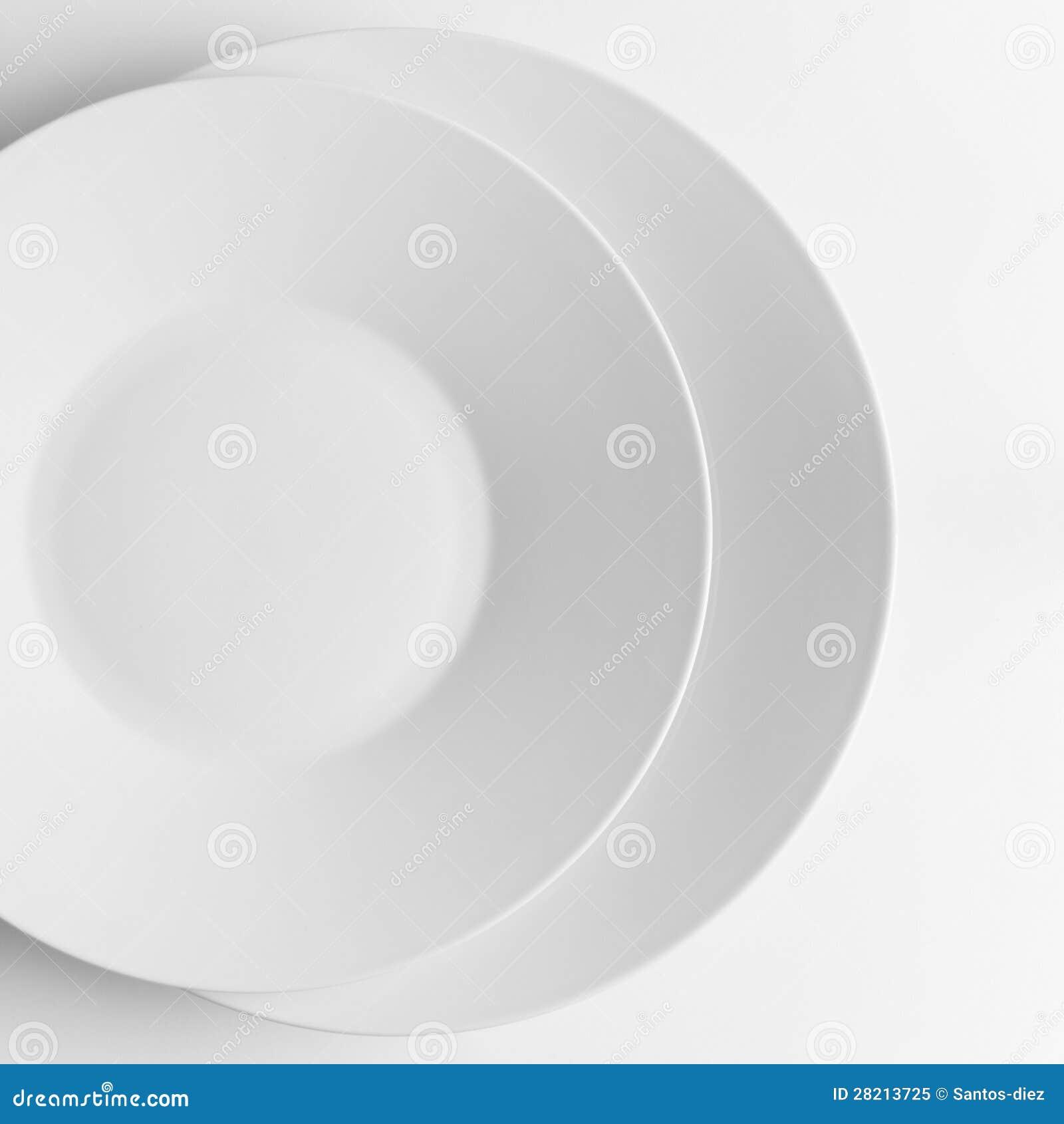 Two white plates
