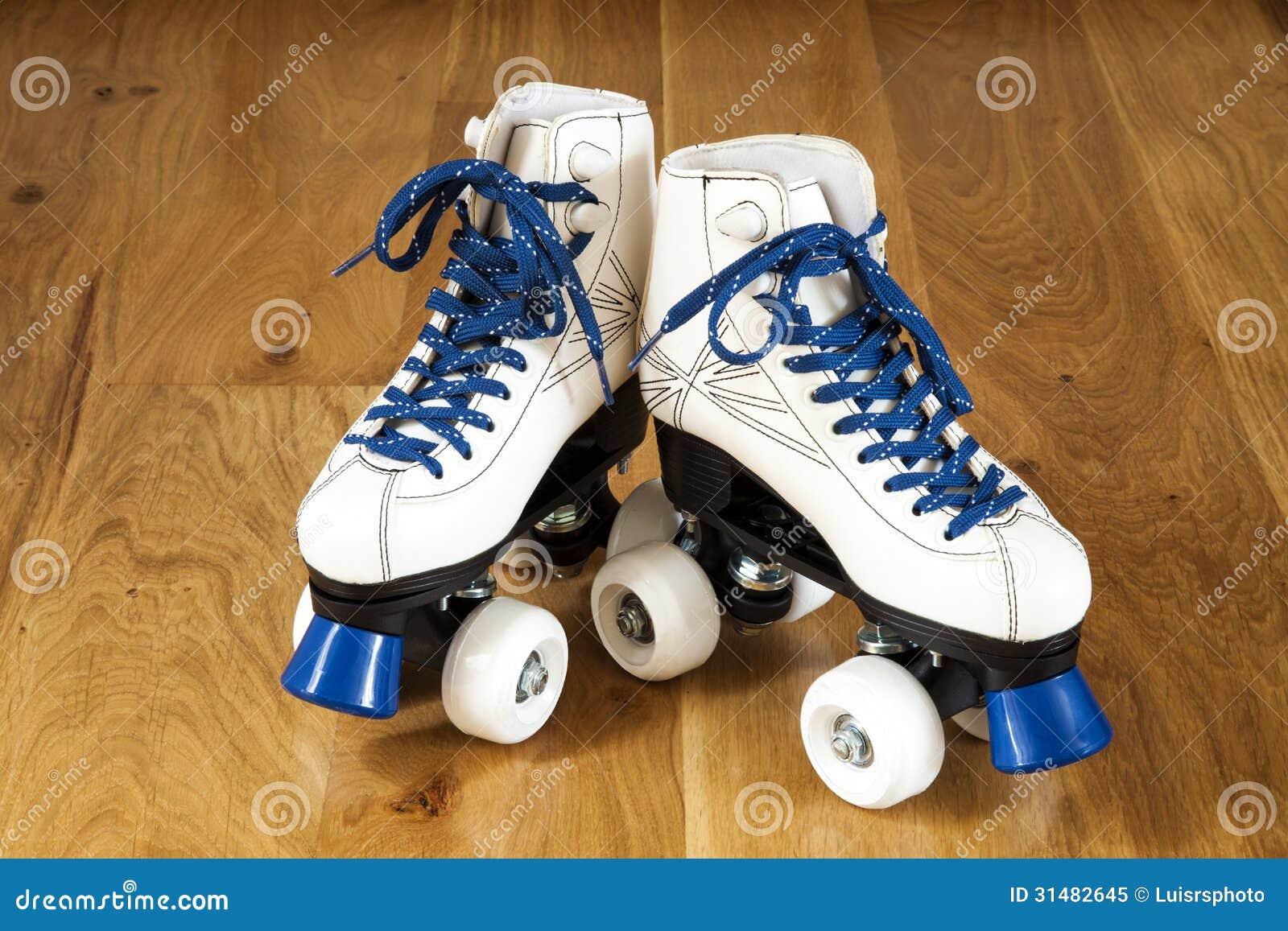 Roller skates for free - Two White Roller Skates