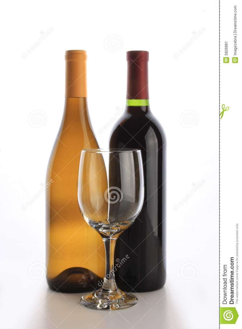 Two wine bottles stock image image 5826881 for Fun things to do with wine bottles
