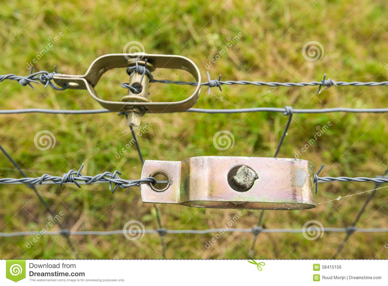 Two Wire Tensioners From Close Stock Photo - Image of line, barbed ...
