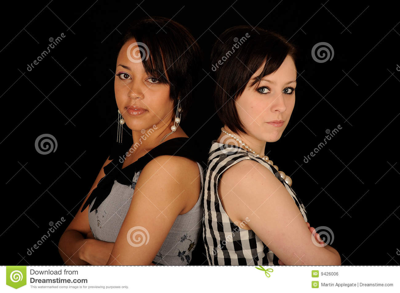 Two woman back-to-back