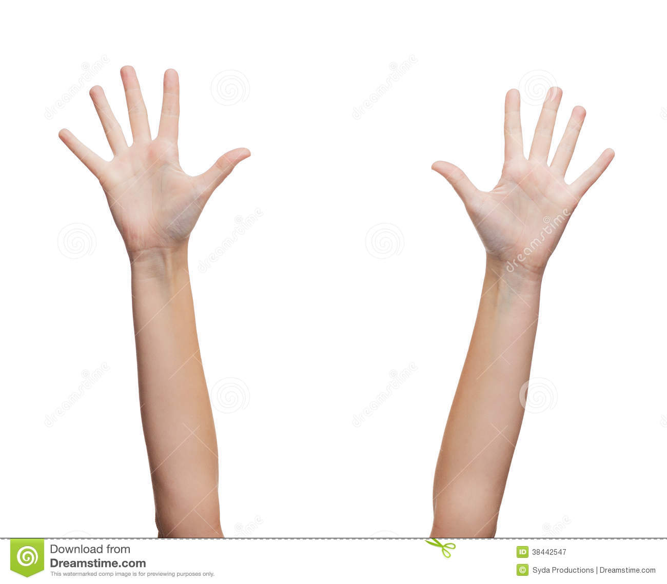 Two Woman Hands Waving Hands Royalty Free Stock ...