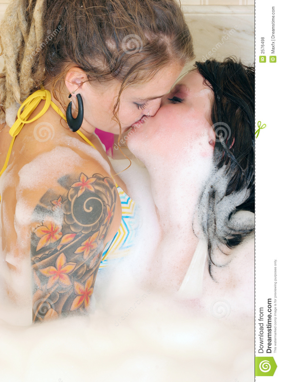 Two Women In Bathtub Royalty Free Stock Photos - Image: 2576498