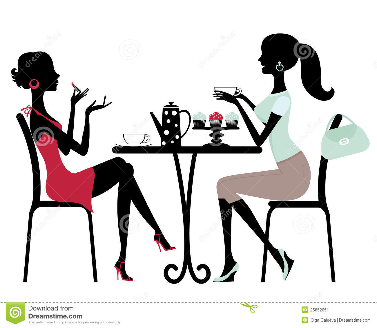 two women in a cafe stock vector illustration of friend manicure clipart free manicure clipart images