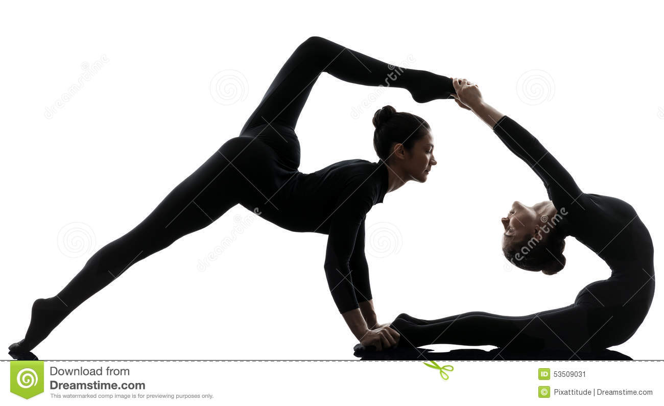 Turbo Two Women Contortionist Exercising Gymnastic Yoga Stock Image  NU86