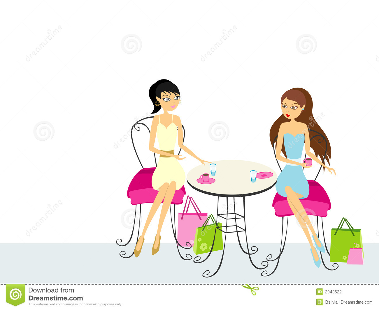 Two Women Drinking Coffee Stock Photography - Image: 2943522