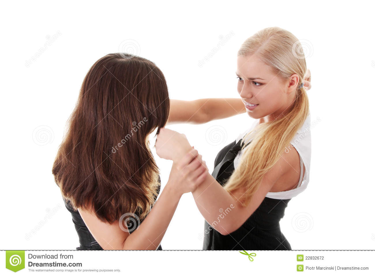 Two Women Fight Stock Photography Image 22832672