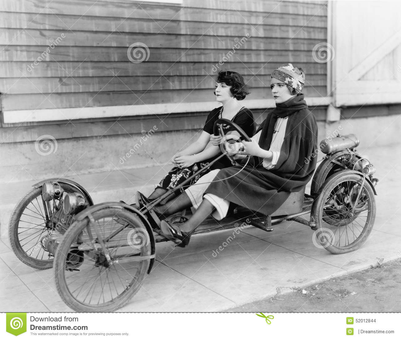 Two Women In Go Kart Stock Photo Image Of Companionship