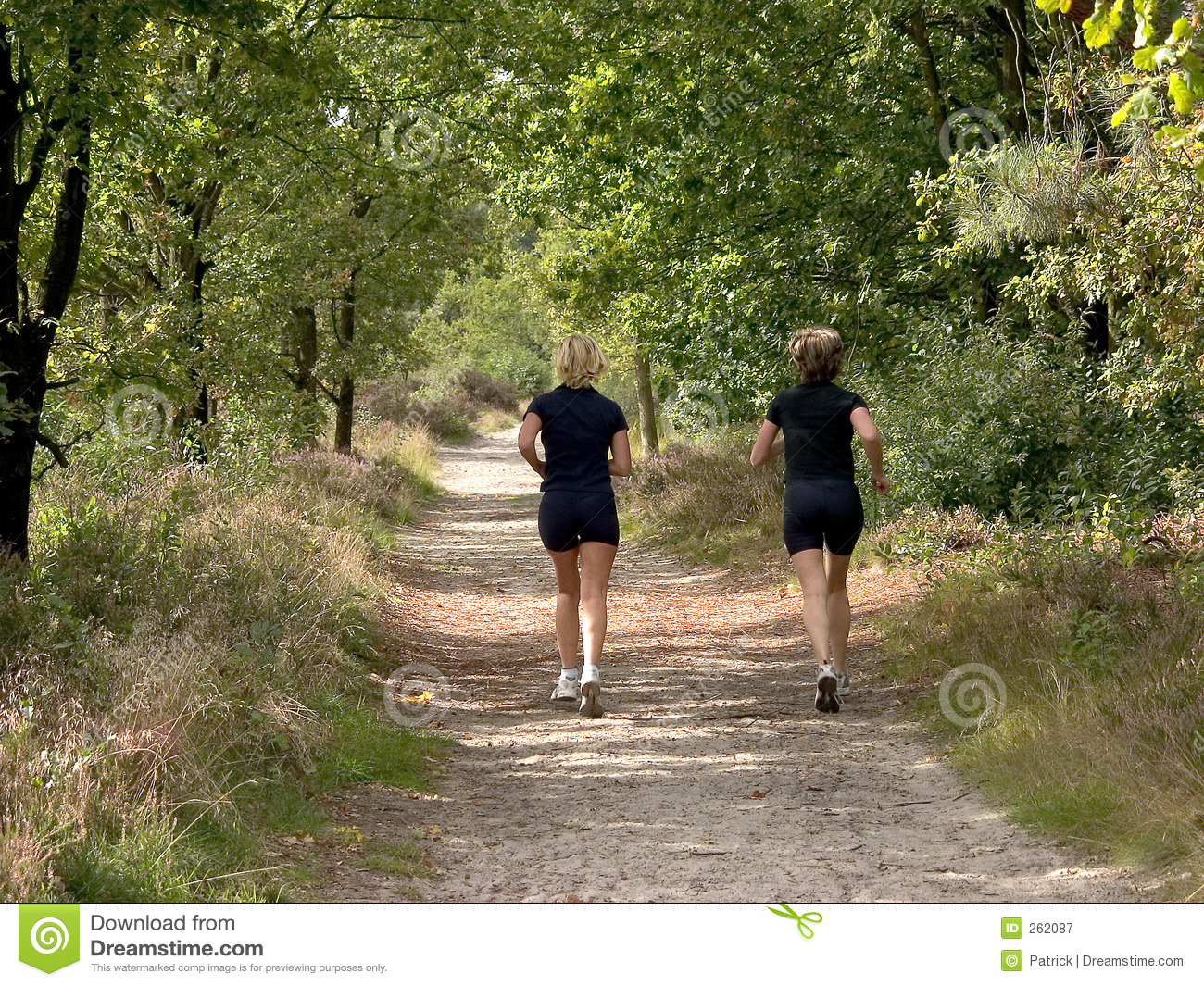 from Trace women jogging in forest