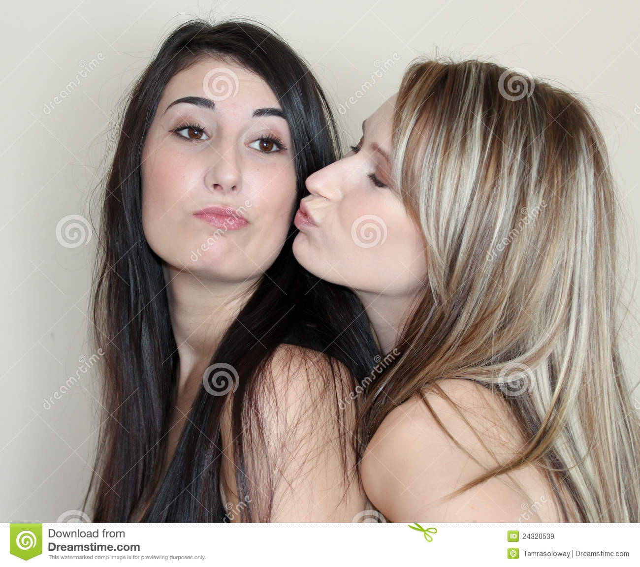 Two Women Kissing Royalty Free Stock Images - Image: 24320539