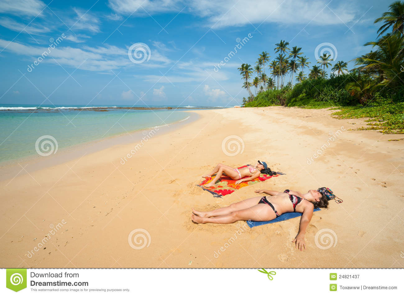 Two Women Sunbathing Royalty Free Stock Photography   Image 24821437