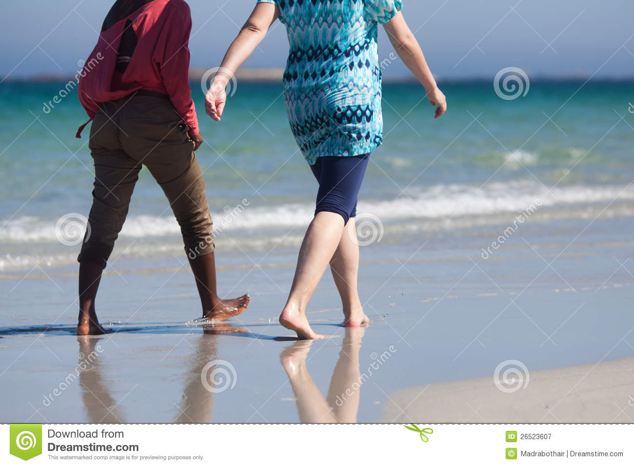 Woman walking on a beach royalty - Beach Black Summer Walking Woman