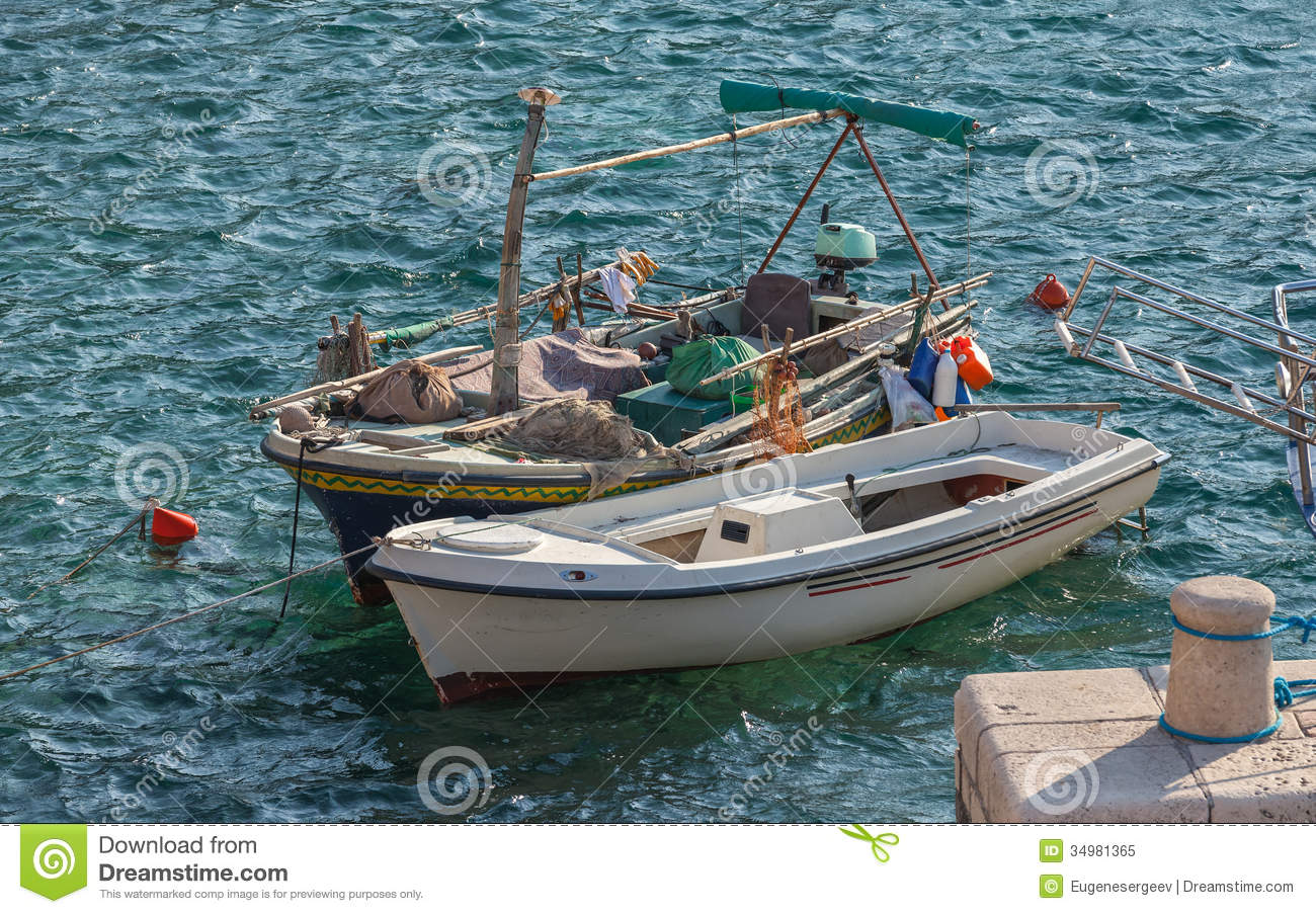 Two Wooden Fishing Boats Royalty Free Stock Photo - Image: 34981365