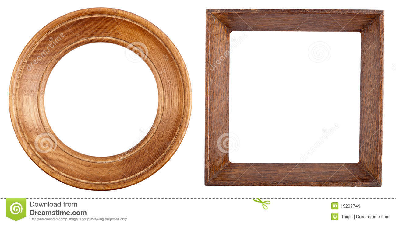 Two wooden frames