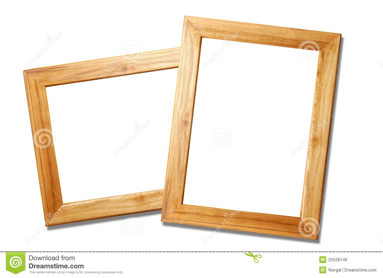 Two Wooden Picture Frames Stock Photo Image Of Brown 25528146