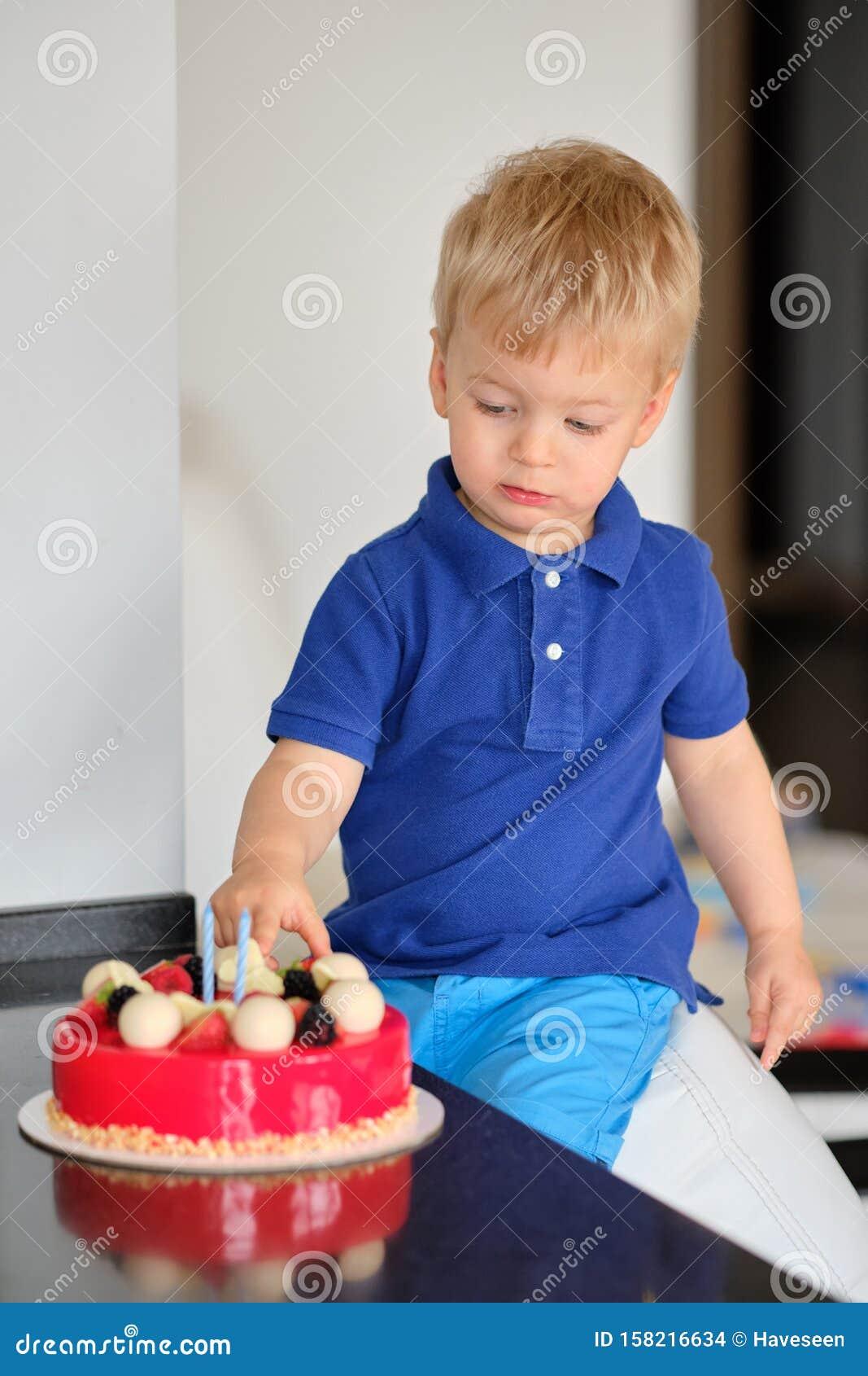 Fabulous Boy Trying Birthday Cake Stock Photo Image Of Caucasian 158216634 Funny Birthday Cards Online Inifodamsfinfo