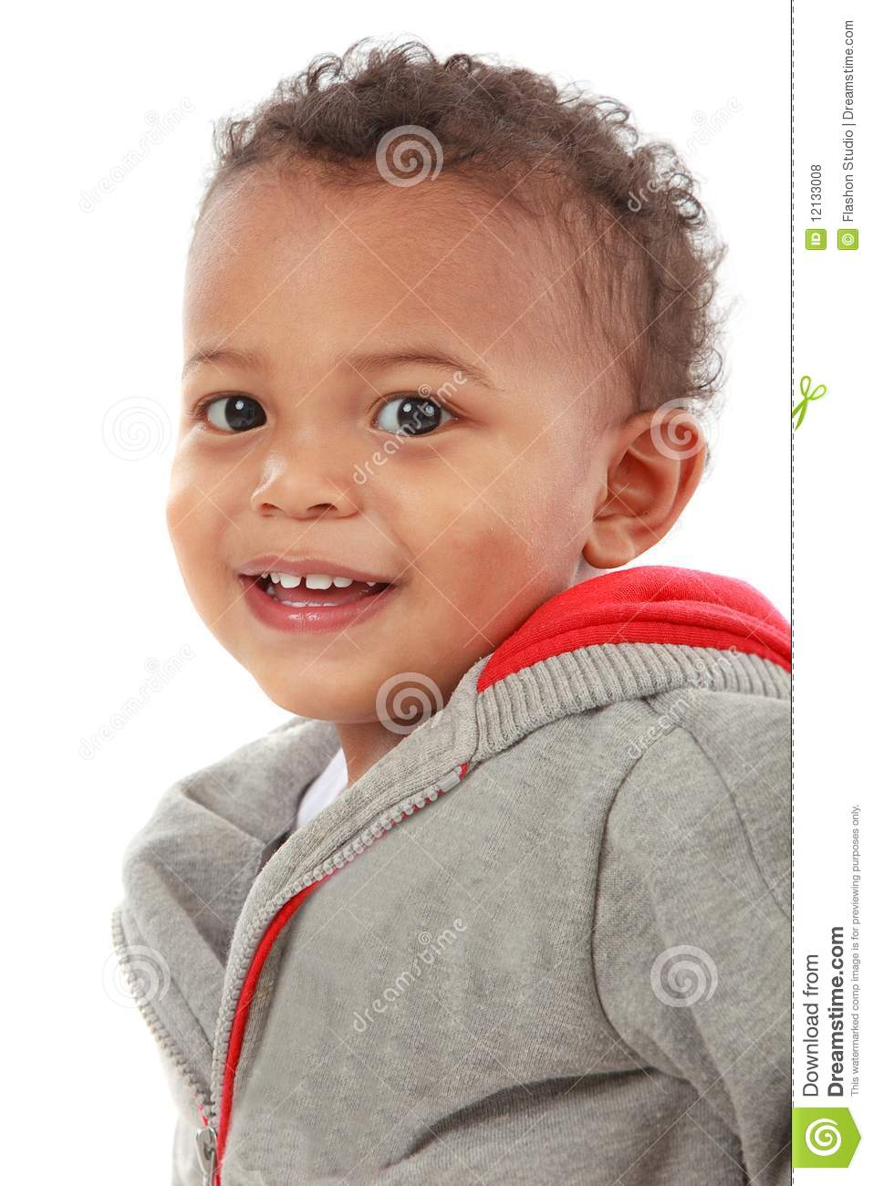 Two Years Old African American Boy Stock Photo