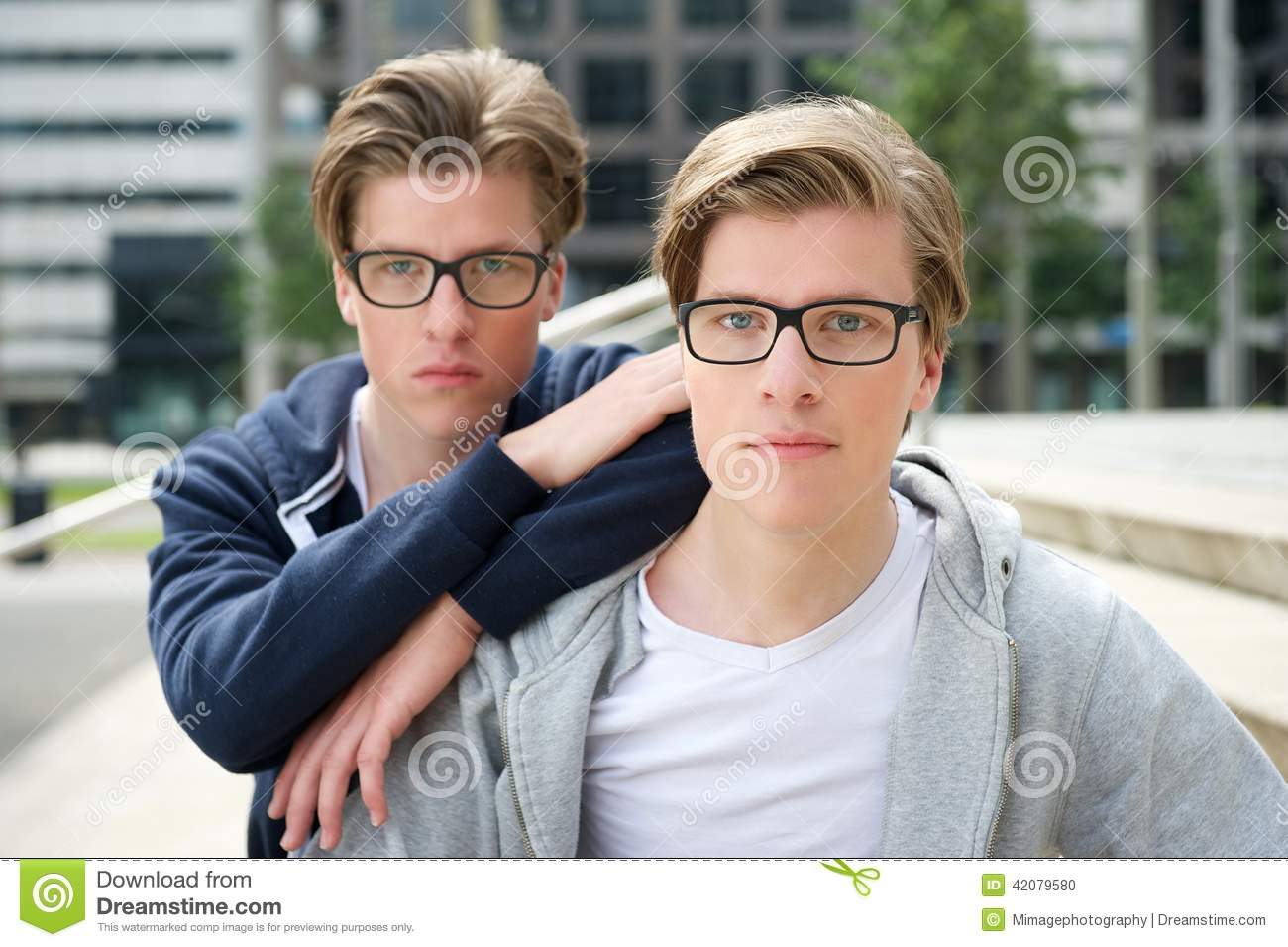 Two Young Adult Brothers Stock Images - 1,065 Photos