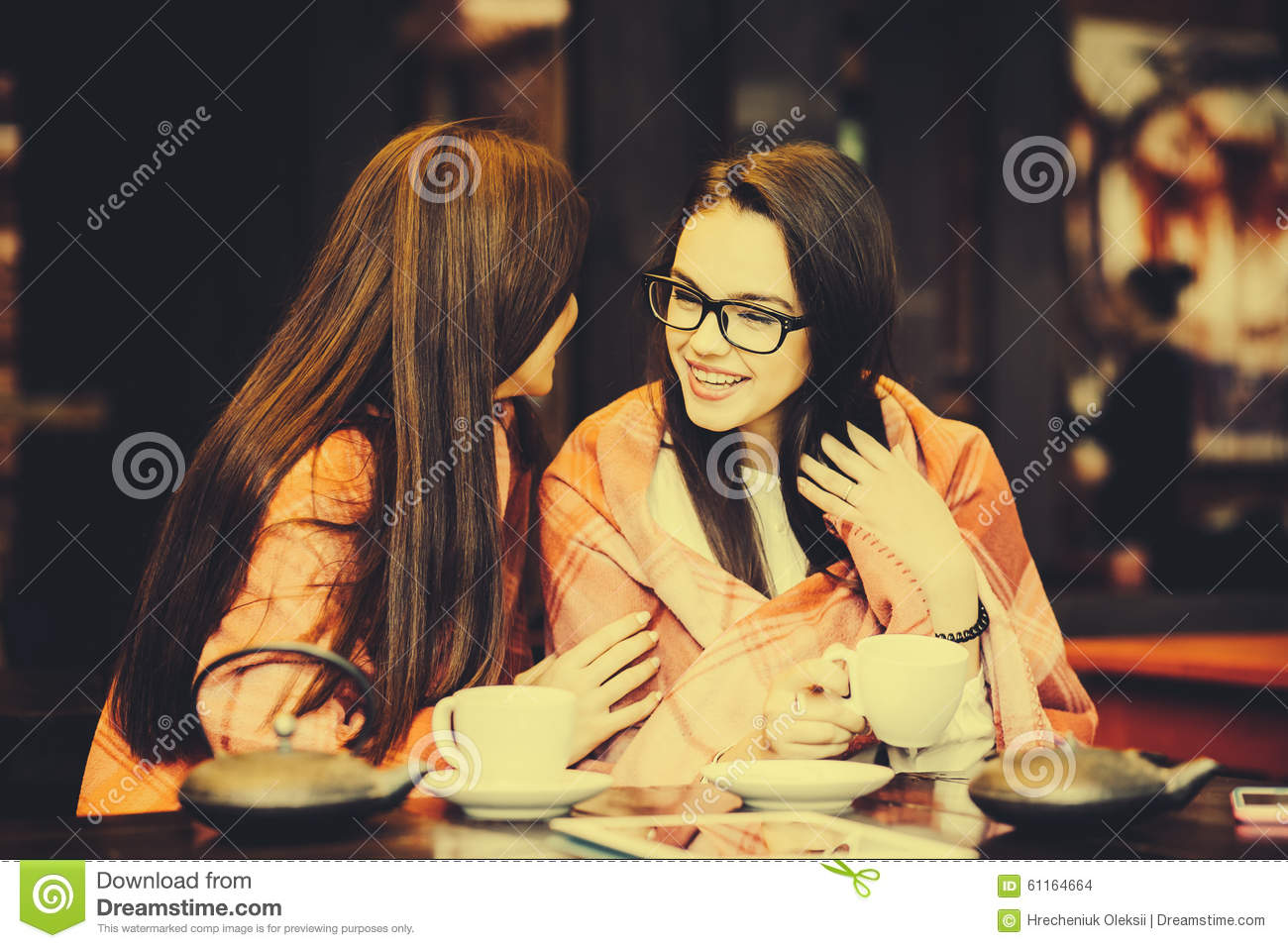 Two Young And Beautiful Girls Gossiping Stock Photo - Image Of Meeting, Friendship -3579