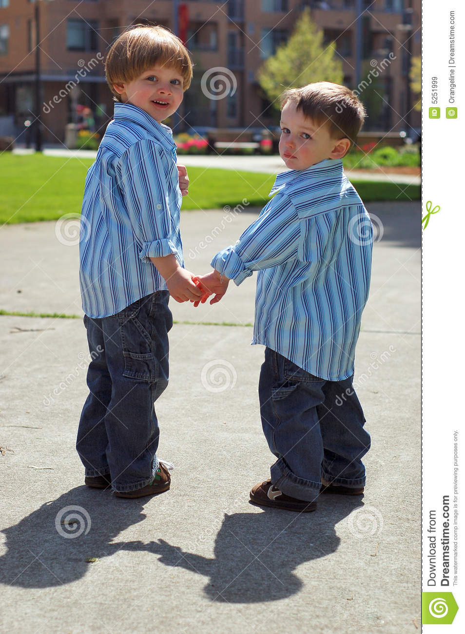 Two Young Brothers - Holding Hands