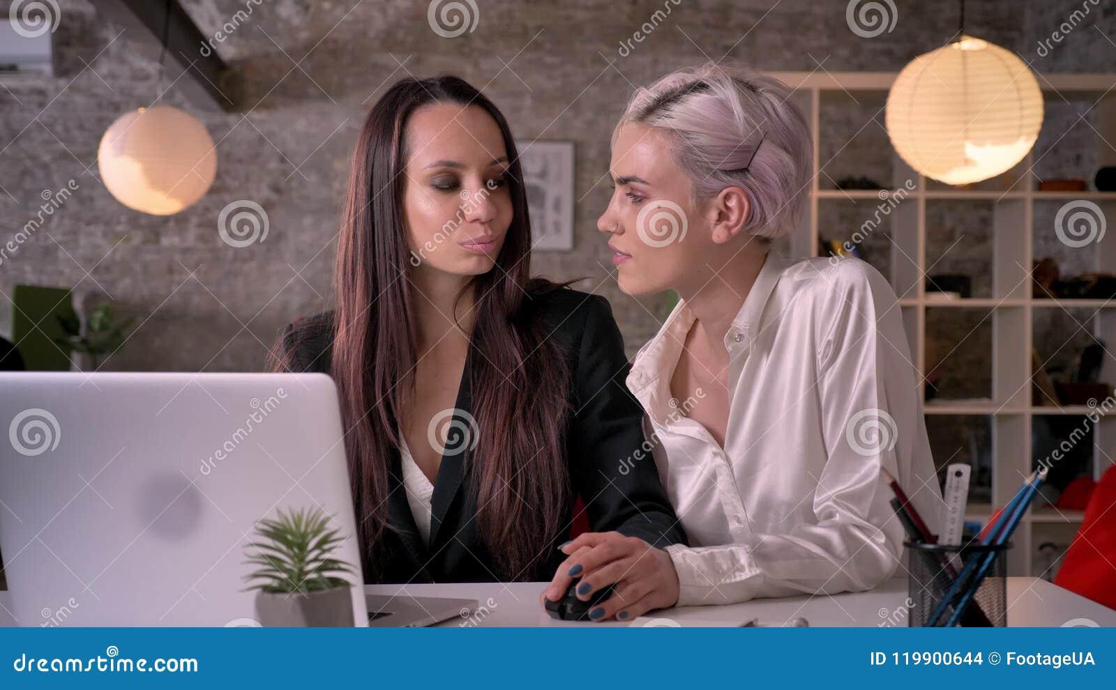 Girls Watching Lesbian Porn