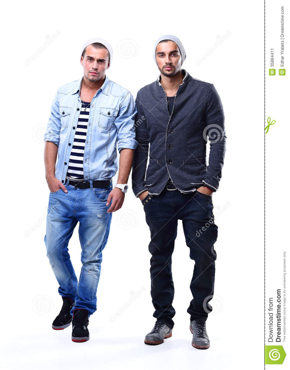 Two Young Fashion Man Stock Image Image Of Confident