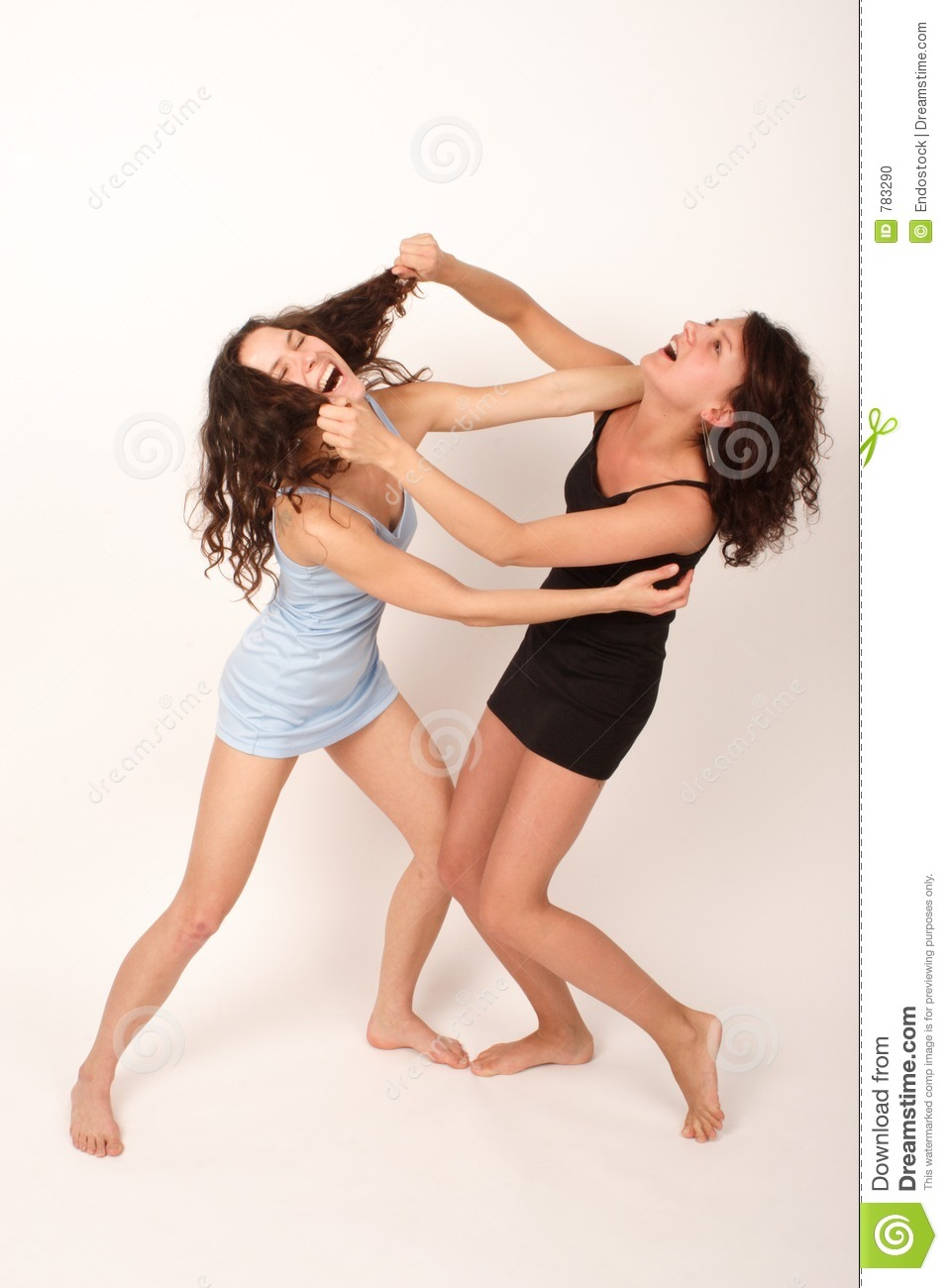 Two girl fighting