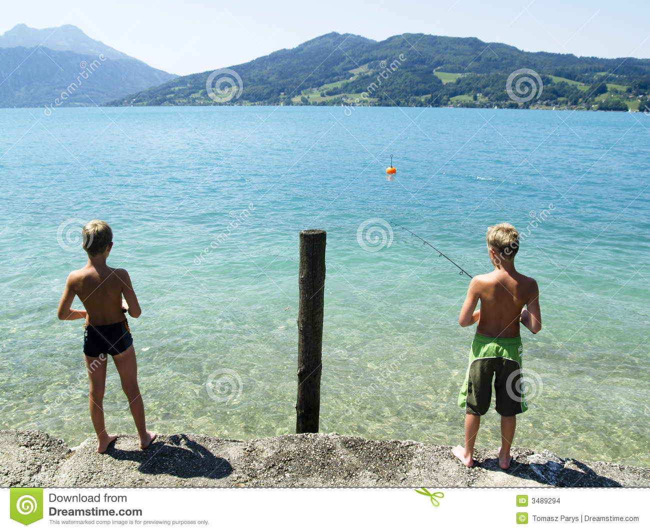 Two young fisherman