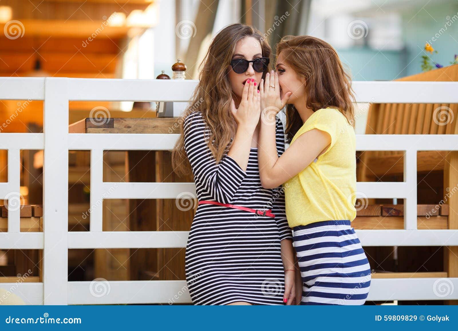 girl striped in shirt Brunette teen
