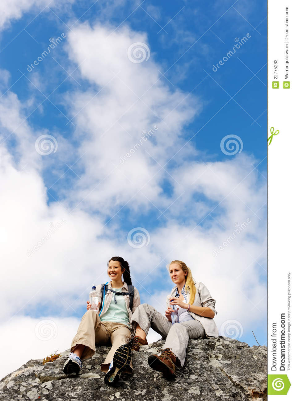 Two young hikers in the great outdoors