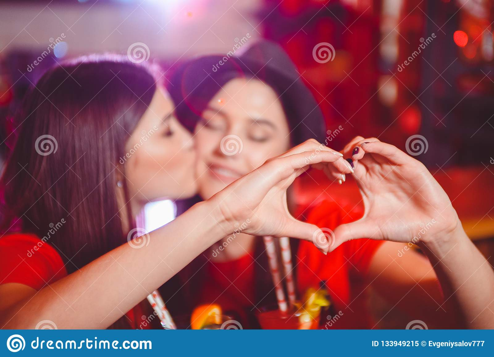 Nasty Lesbian Spit Kissing