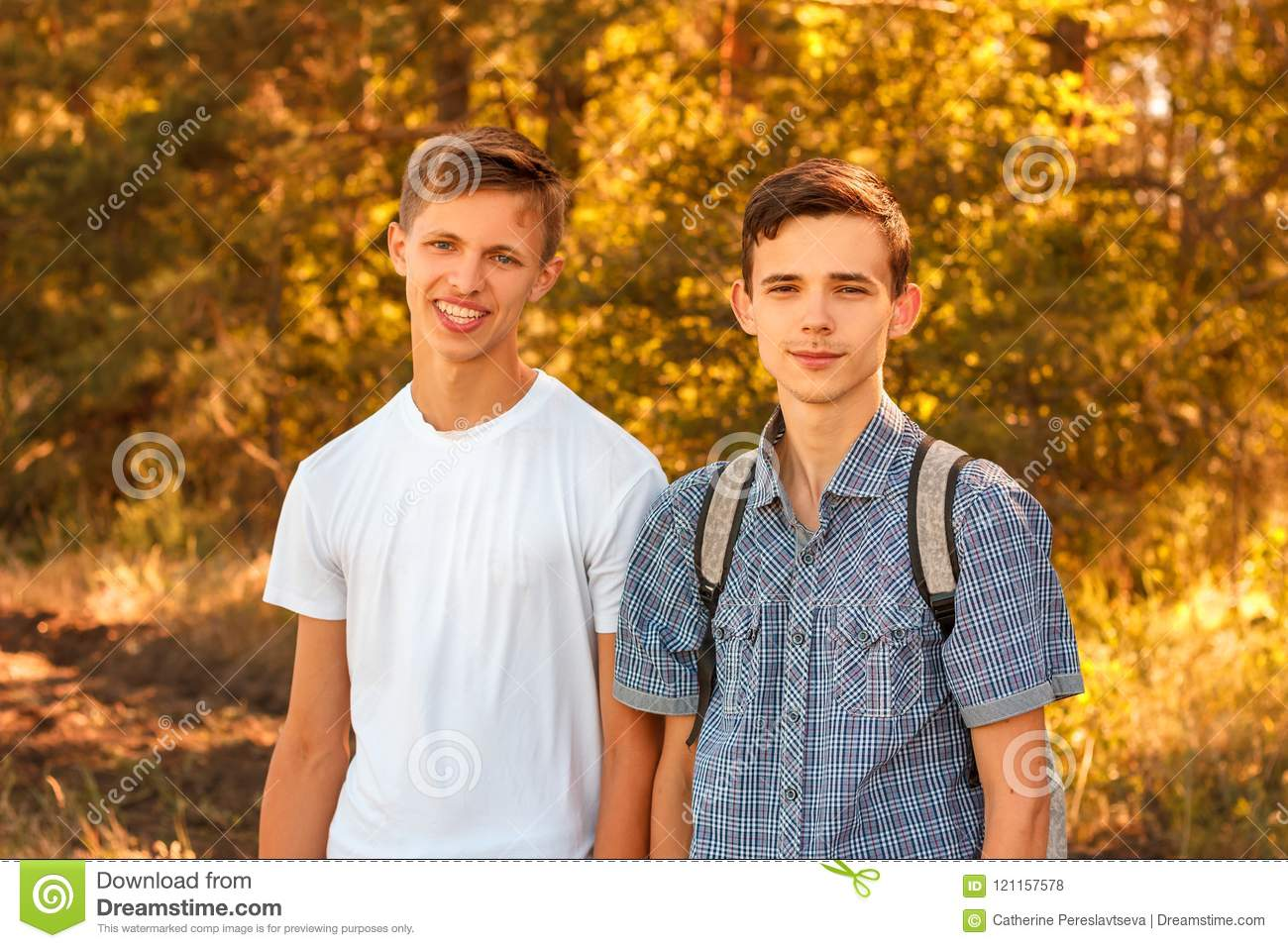 Two young men