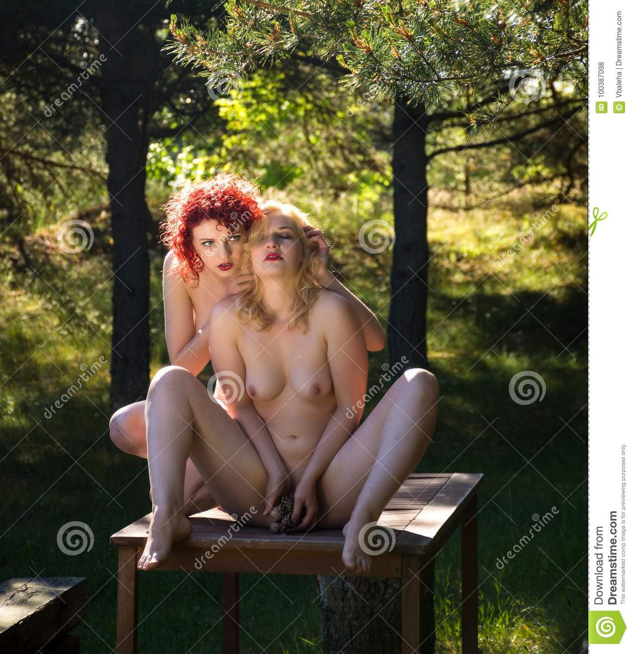 two young nude women stock photo. image of female, girl - 100387098