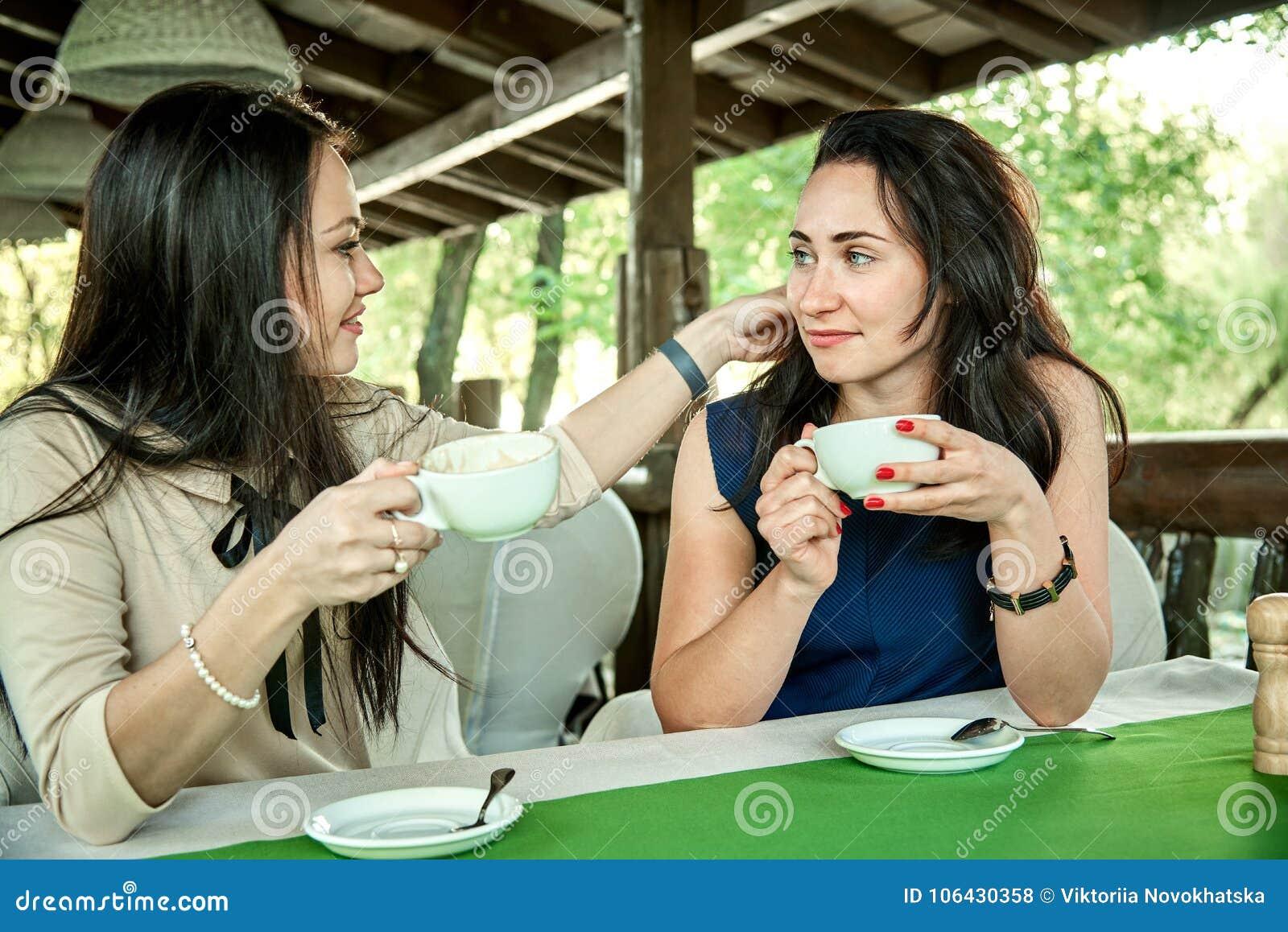 young girls flirting