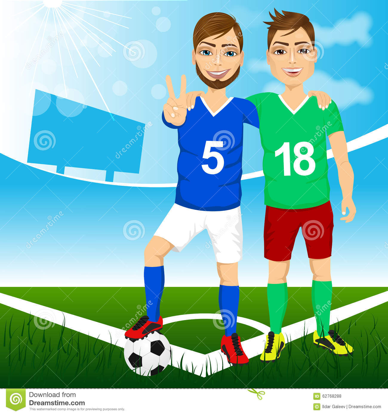 Soccer Friends Stock Photo, Royalty Free Image: 2138992 - Alamy