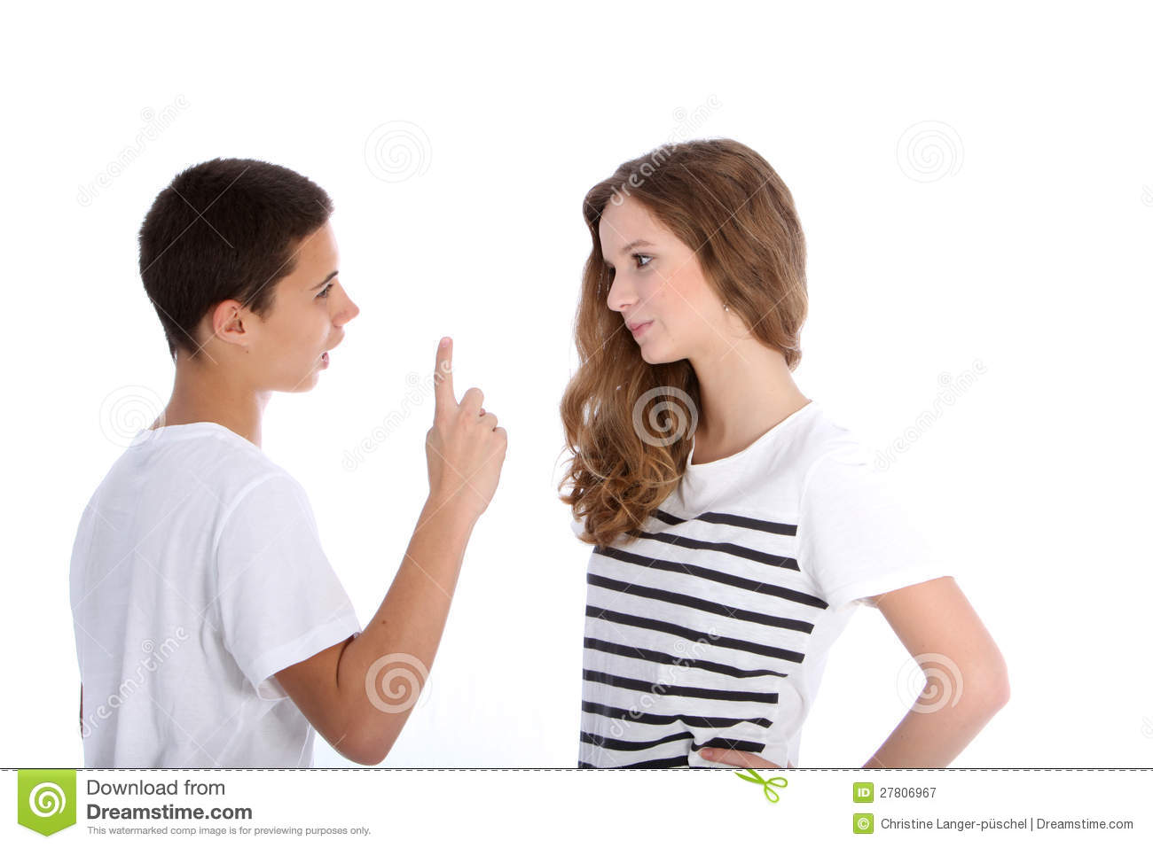 Two Young Teenagers Arguing Royalty Free Stock Photography - Image ...
