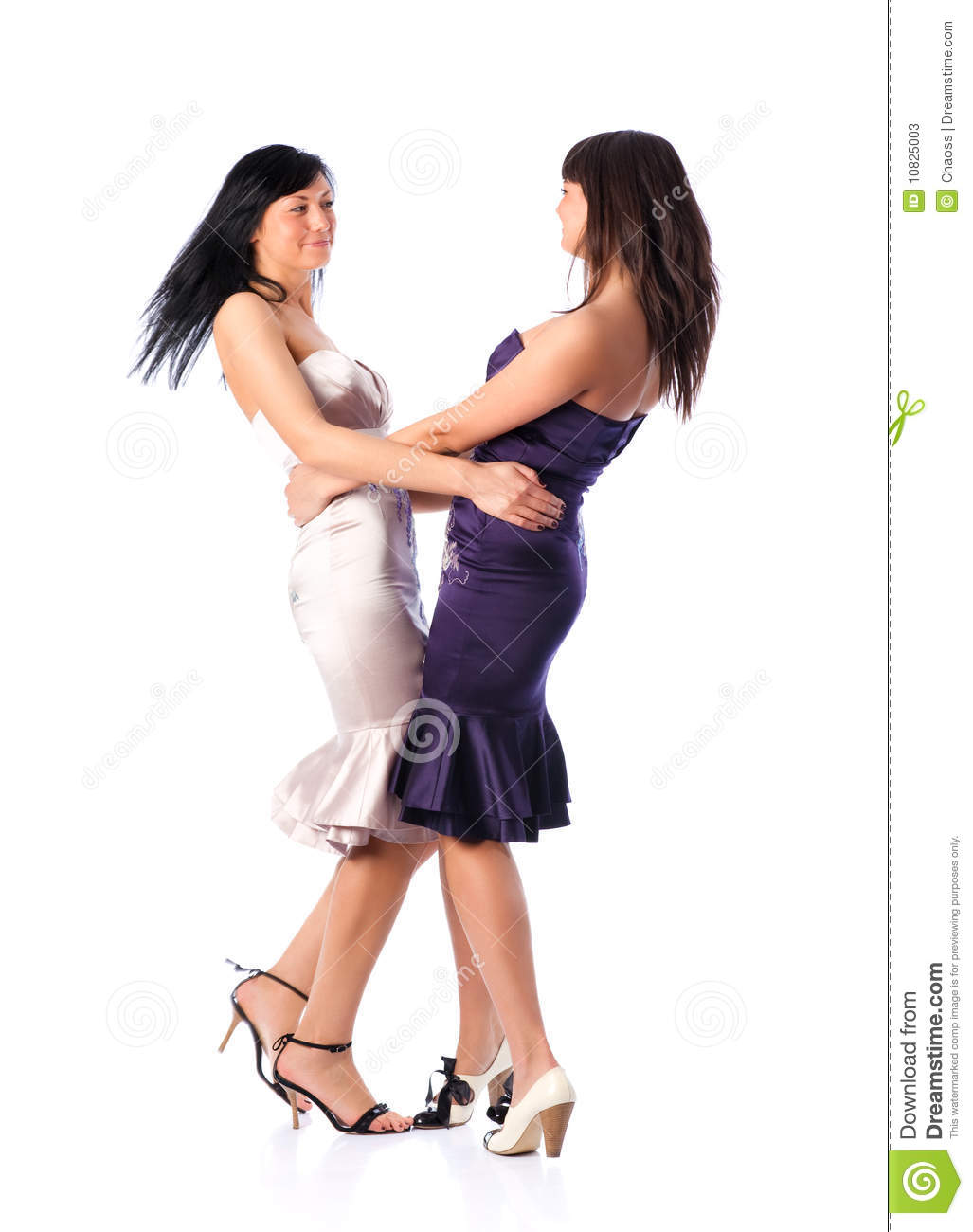 Two Young Women Dancing Stock Photos - Image: 10825003