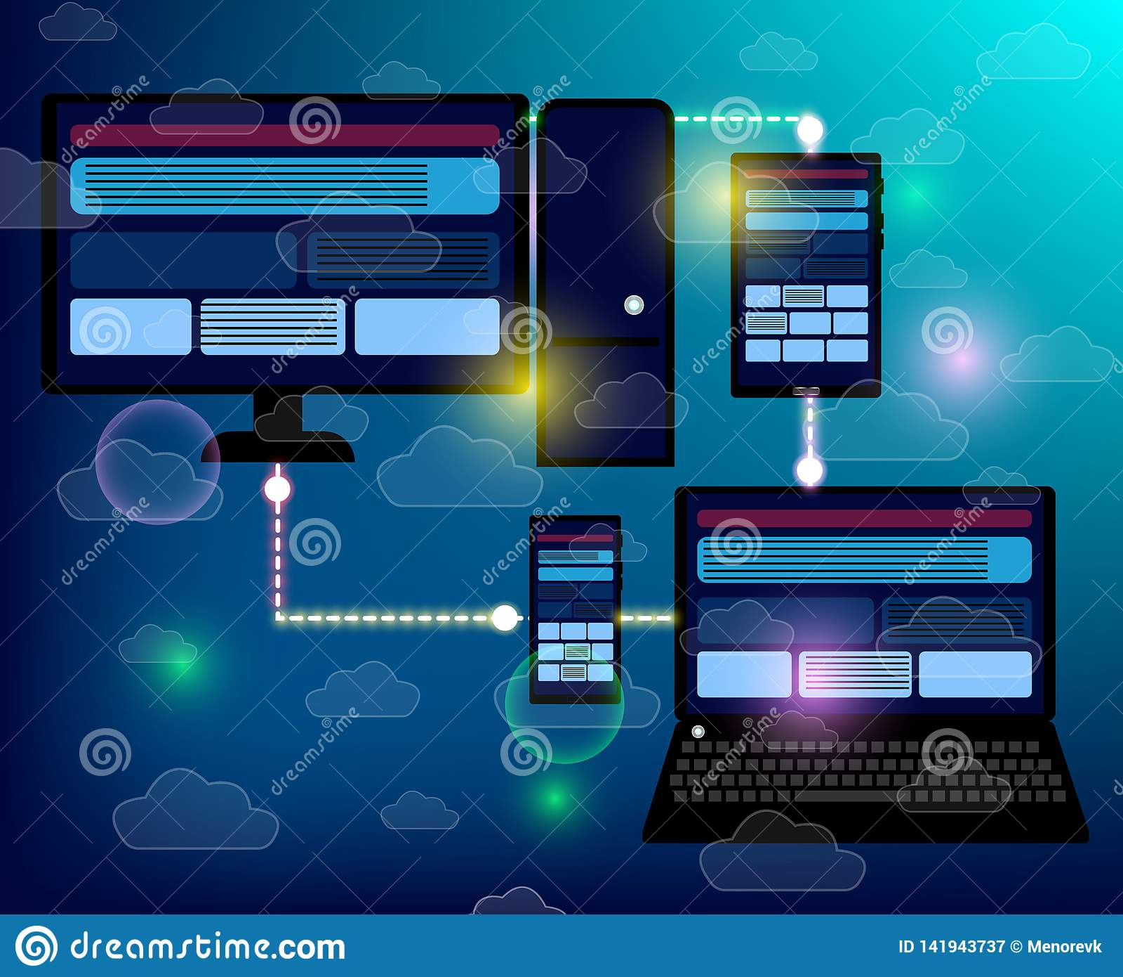 Tworzenie interneta wyczulona strona internetowa dla wieloskładnikowych platform
