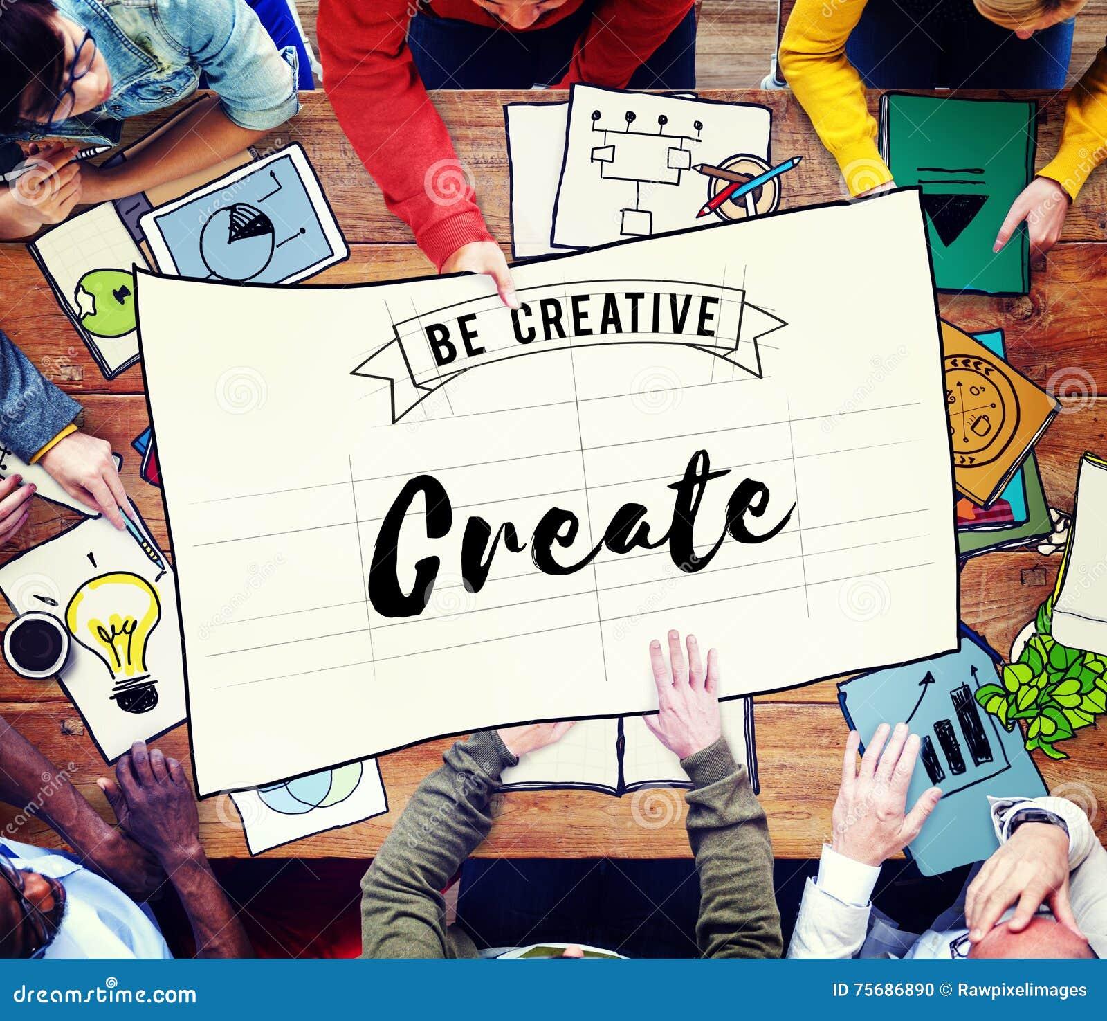 Tworzy Kreatywnie twórczość pomysły wyobraźnia Inspiruje pojęcie
