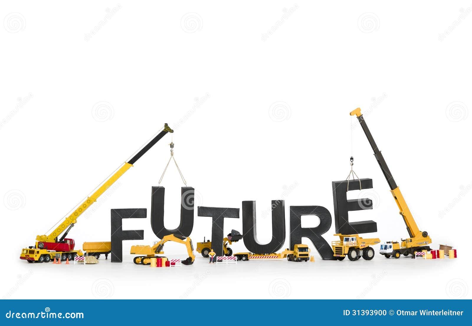 Tworzy twój przyszłość: Maszyny buduje słowo.
