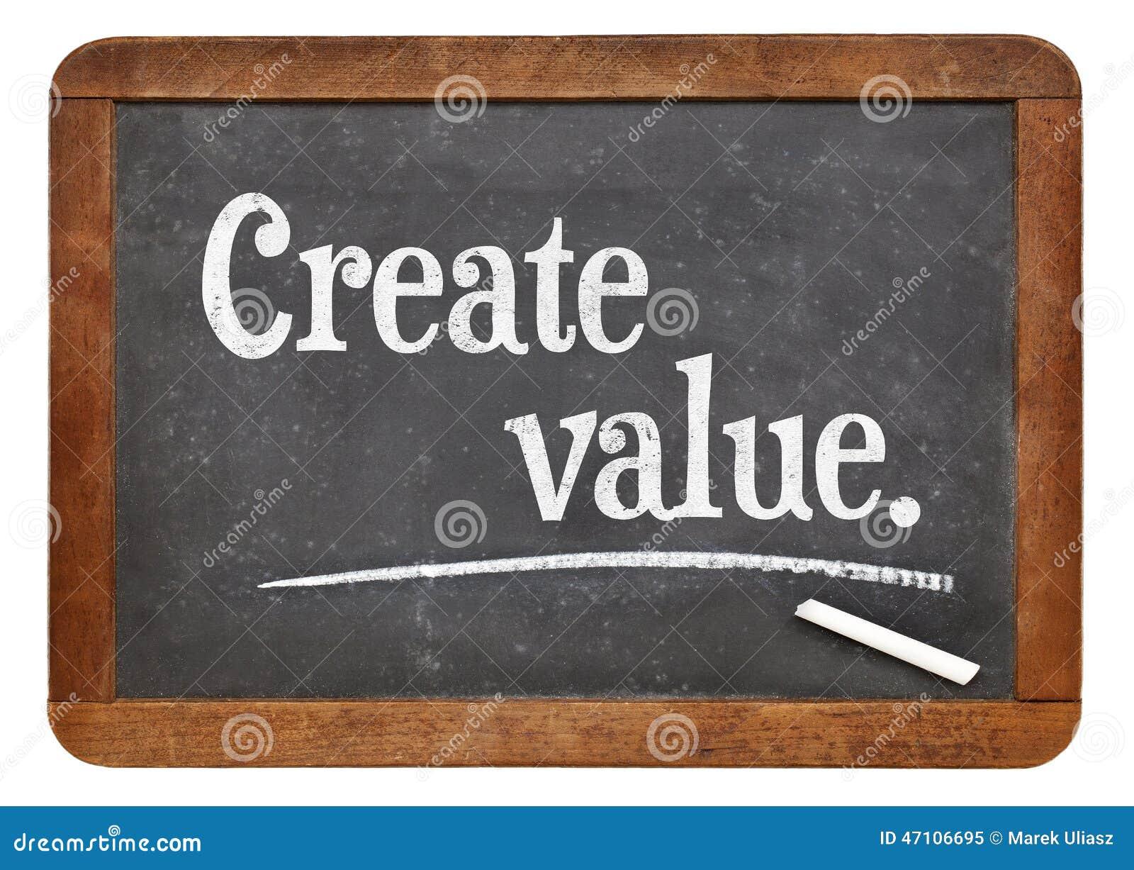 Tworzy wartość na blackboard