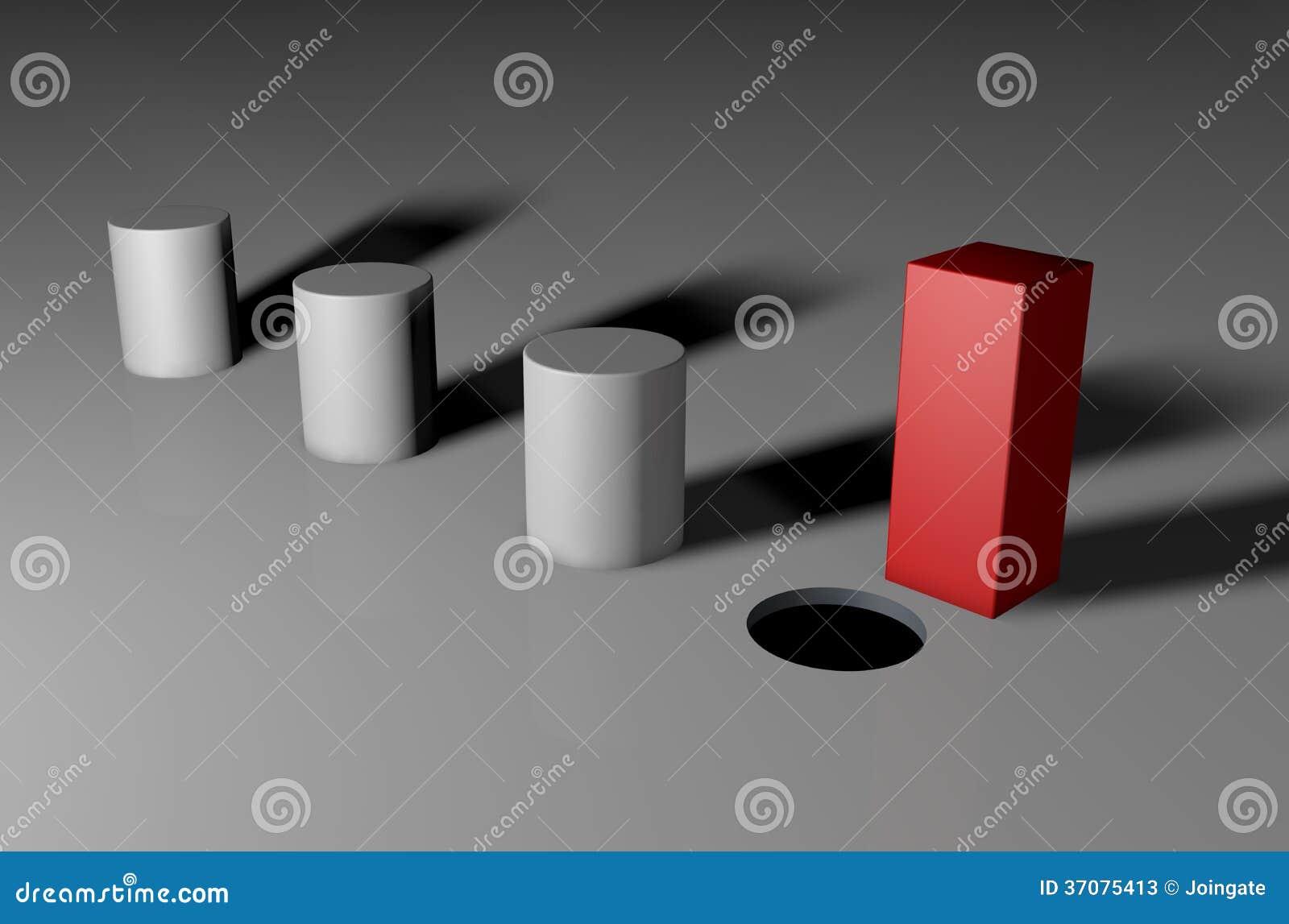 Ty no możesz dostosowywać kwadratowego czop w round dziurze