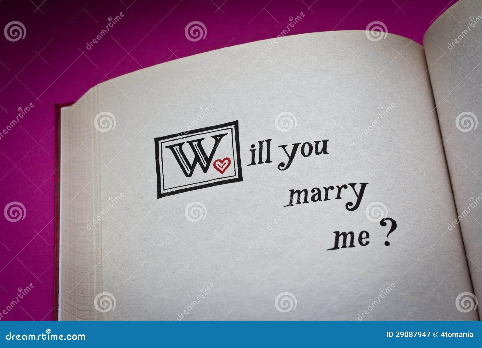 Ty poślubiasz ja?
