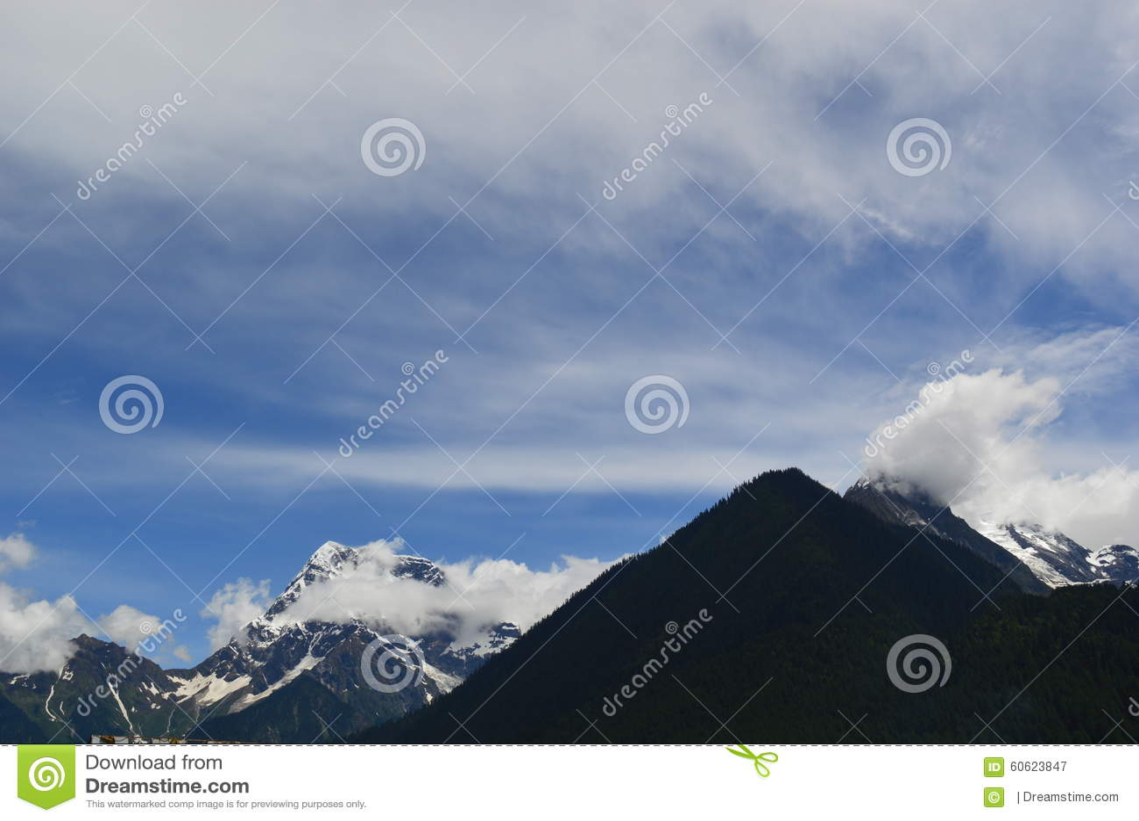 Tybet śniegu góra