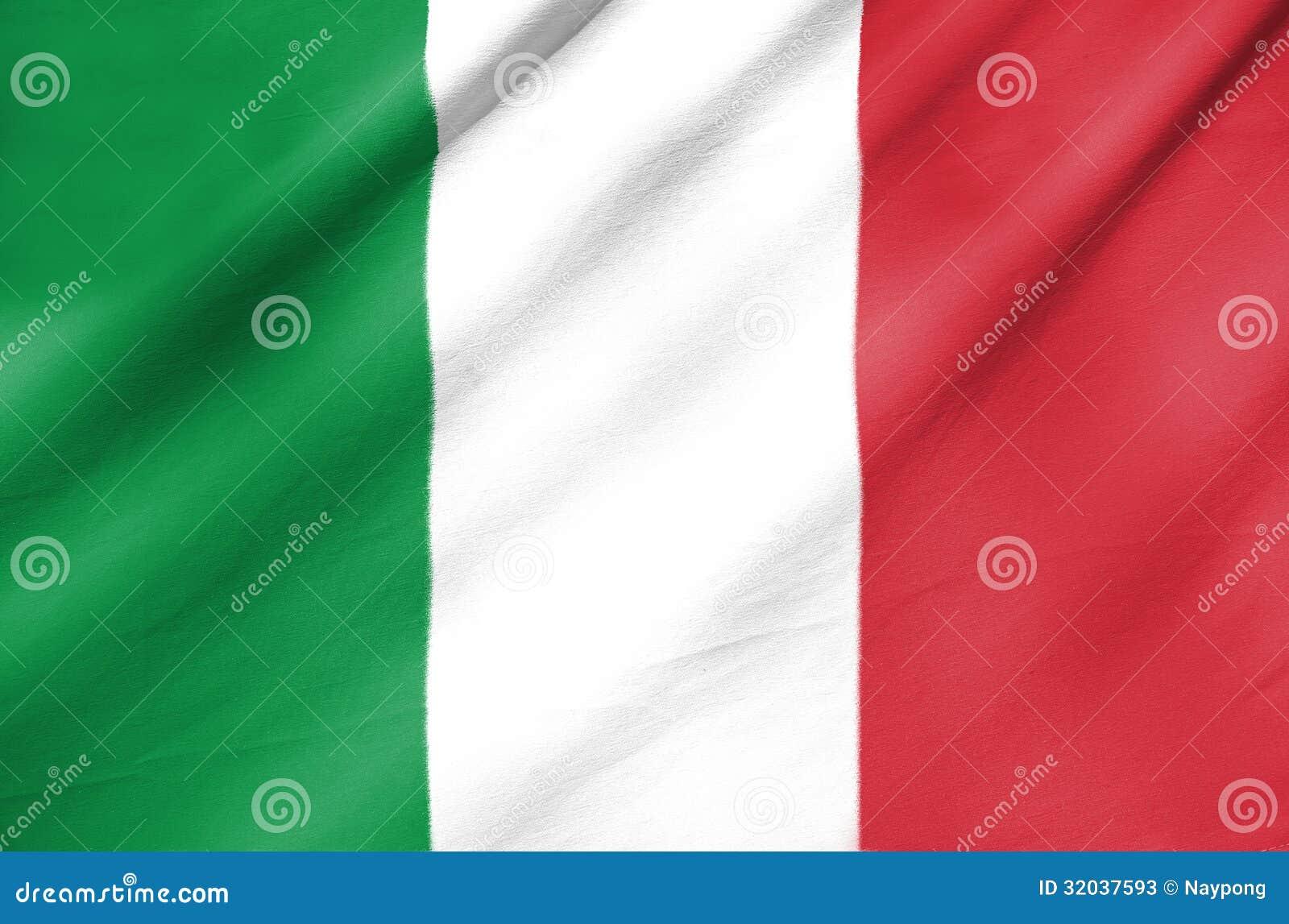 Tygflagga av Italien