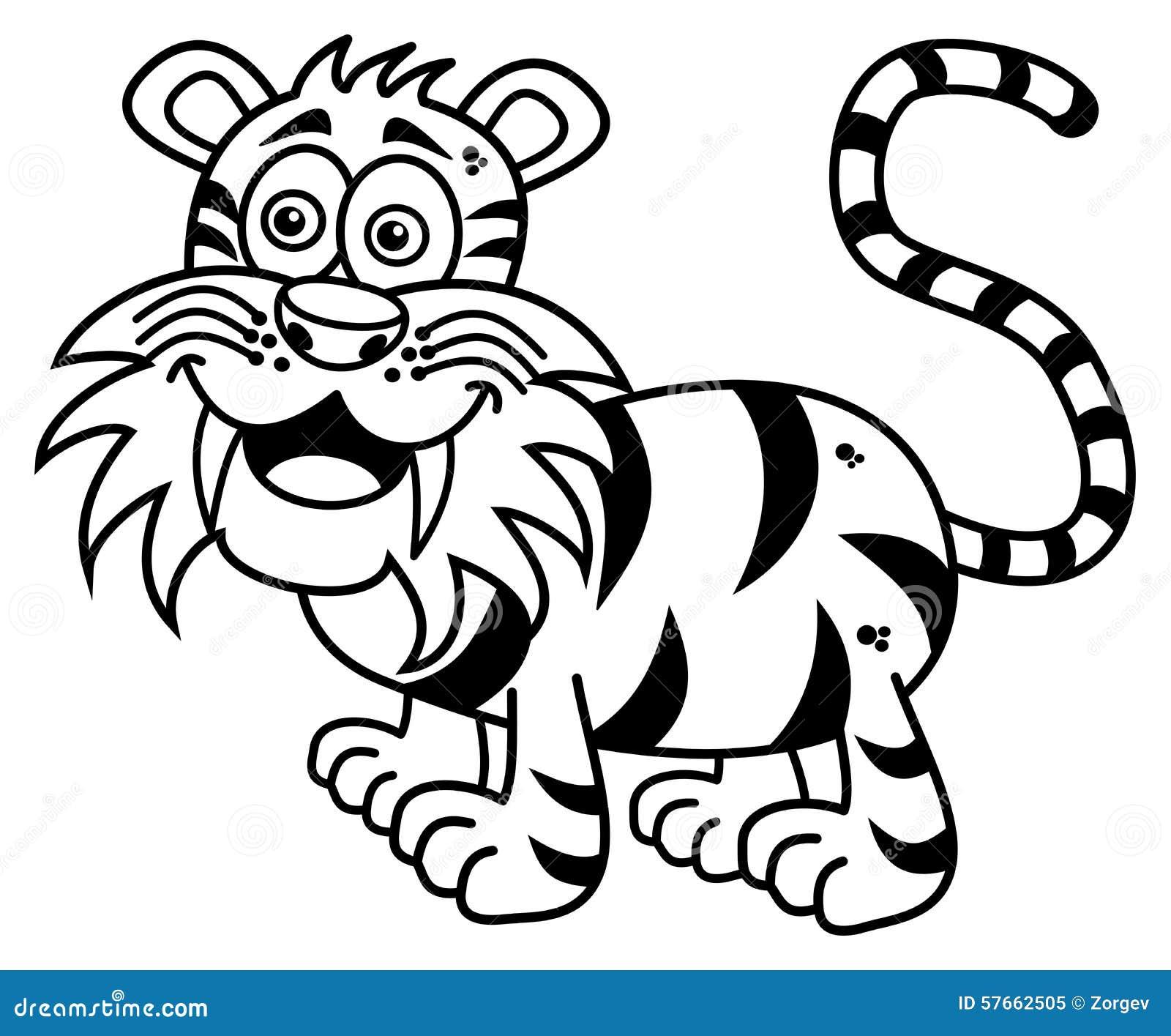 Tygrys ono uśmiecha się dla barwić